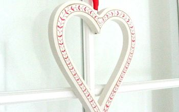 red and white heart decoration, crafts, seasonal holiday decor, valentines day ideas