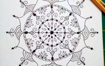 drawing mandalas step by step, crafts