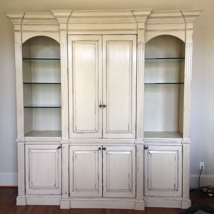 armoire gets a facelift for office of busy real estate broker, chalk paint, painted furniture