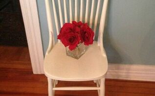farmhouse chair makeover, painted furniture, AFTER
