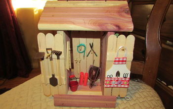 fairy garden tool and garden shed, crafts, gardening