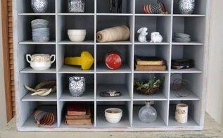 diy farmhouse cubby organizer, organizing, painted furniture
