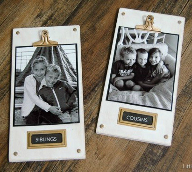 s the 12 brilliant hacks every mom should know, home decor, repurposing upcycling, Change out pictures easily with these plaques