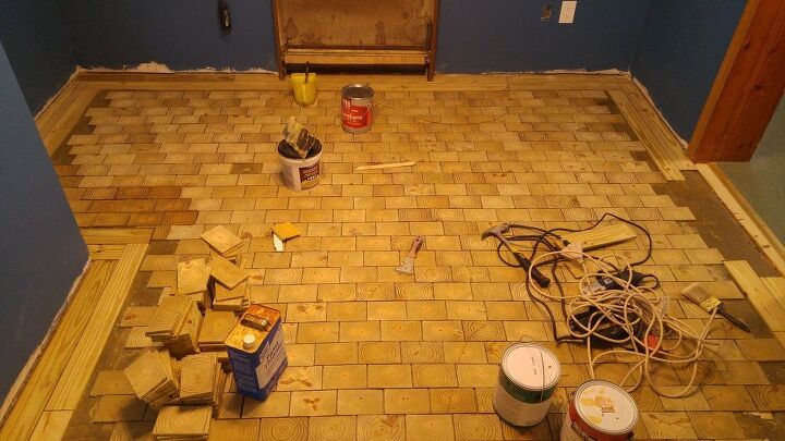 I Made An End Grain Wood Floor From Scratch And Saved