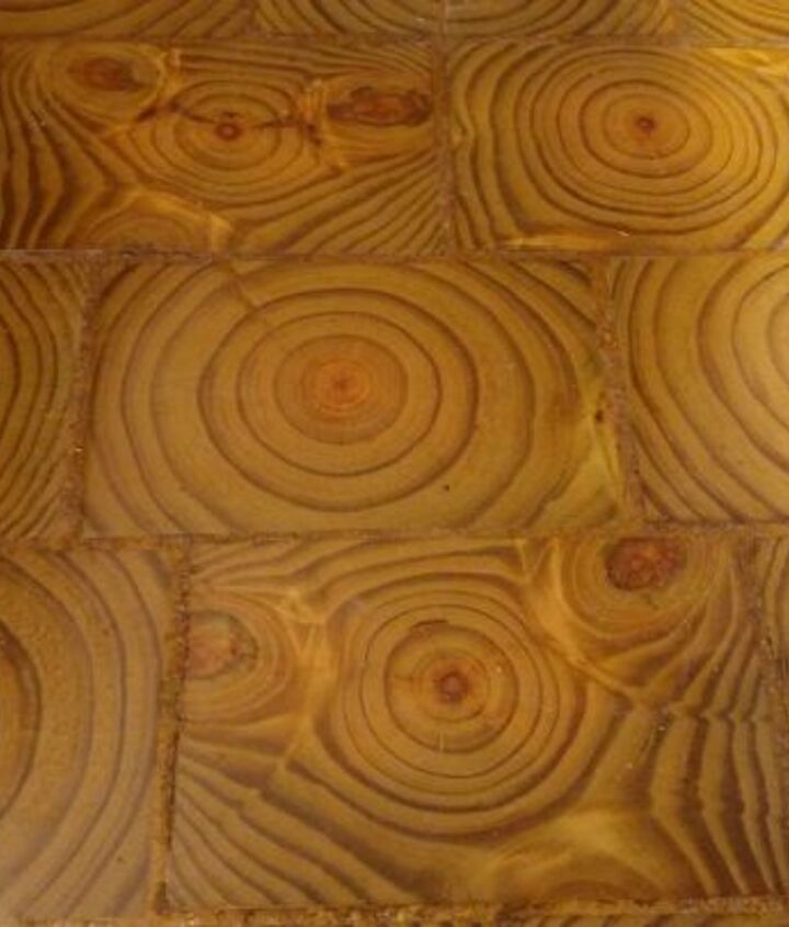 i made an end grain wood floor from scratch and saved myself 4000, dining room ideas, diy, flooring, hardwood floors, woodworking projects