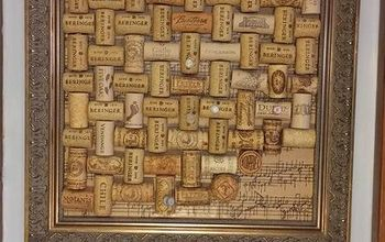 Gorgeous Cork Board to Cover an Eye Sore