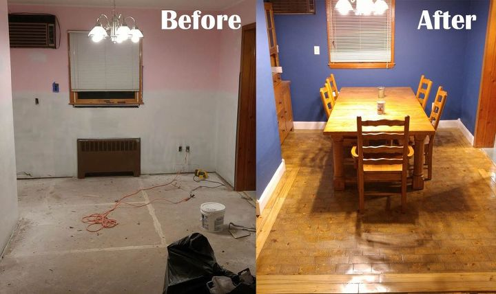 I Made An End Grain Wood Floor From Scratch And Saved Myself 4000 Dining Room