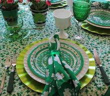 st patrick s tablescape, seasonal holiday decor