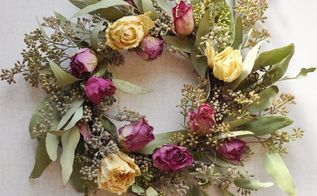 how to dry roses make a rose wreath, crafts, flowers, how to, wreaths