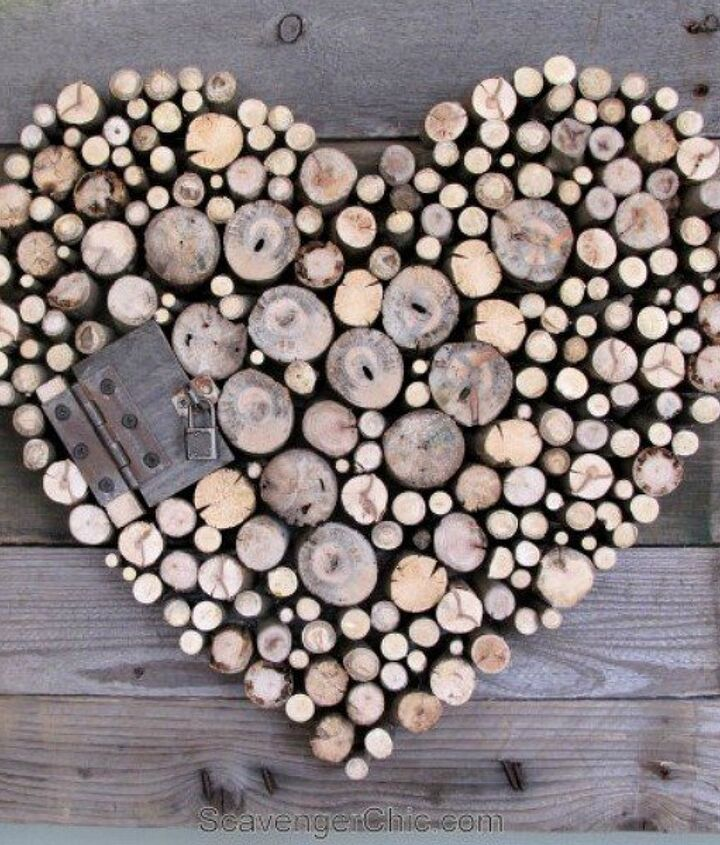 s how 13 dumpster divers decorate for valentine s day, repurposing upcycling, seasonal holiday decor, valentines day ideas, Rustic Romantic Hanging from Branches