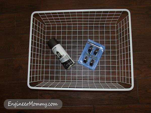 diy rollling organizer basket, crafts, home decor, organizing, storage ideas