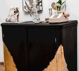 Charmant How To Use Gold And Black Paint To Decorate A Dresser, Painted Furniture