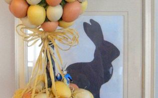 easter egg topiary, crafts, easter decorations, seasonal holiday decor