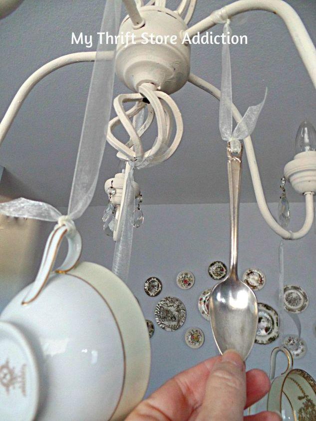Diy Whimsical Teacup Chandelier Lazygirldiy Lighting Repurposing Upcycling