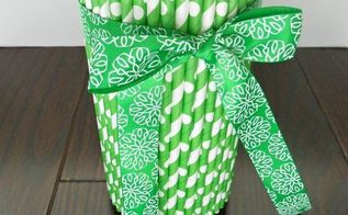st patricks day easy vase home decor project, crafts, seasonal holiday decor
