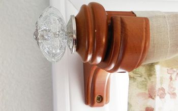 How To Makeover Your Curtain Rods With Drawer Pulls