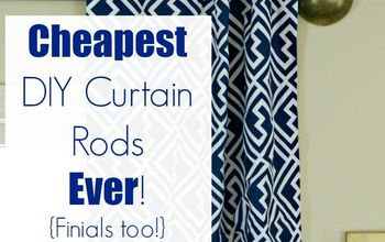 Cheapest DIY Curtain Rods Ever {Finials Too}