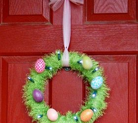 light up easter egg wreath crafts easter decorations seasonal holiday decor wreaths