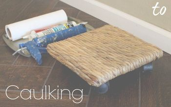 the lazy girl s secret to caulking baseboards, diy, wall decor