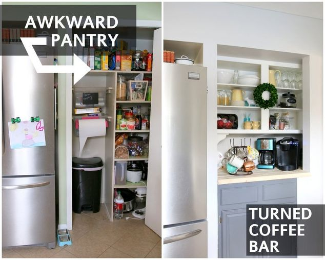 Famous Kitchen Pantry Converted to a Coffee Bar | Hometalk PJ85