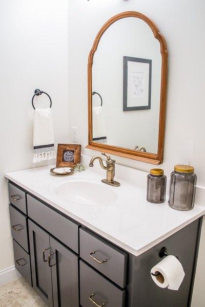 farmhouse inspired bathroom makeover, bathroom ideas, home improvement, small bathroom ideas