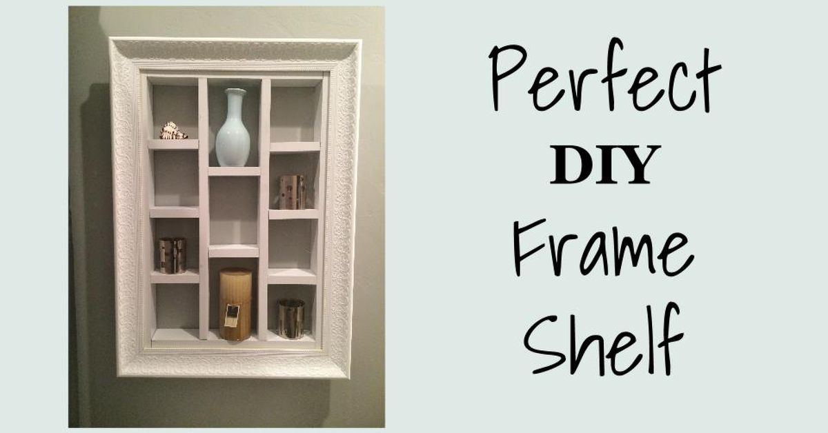 Perfect DIY Frame Shelf | Hometalk