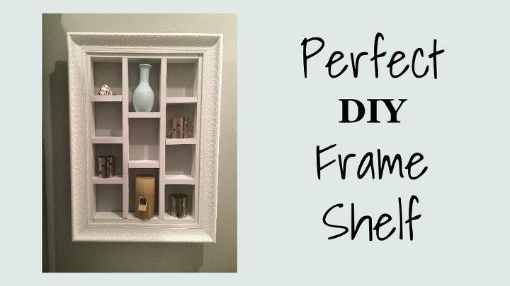 Perfect DIY Frame Shelf | Hometalk