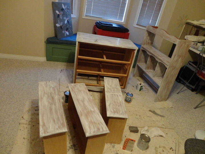 office craft room makeover, chalk paint, craft rooms, diy, painted furniture, repurposing upcycling, woodworking projects
