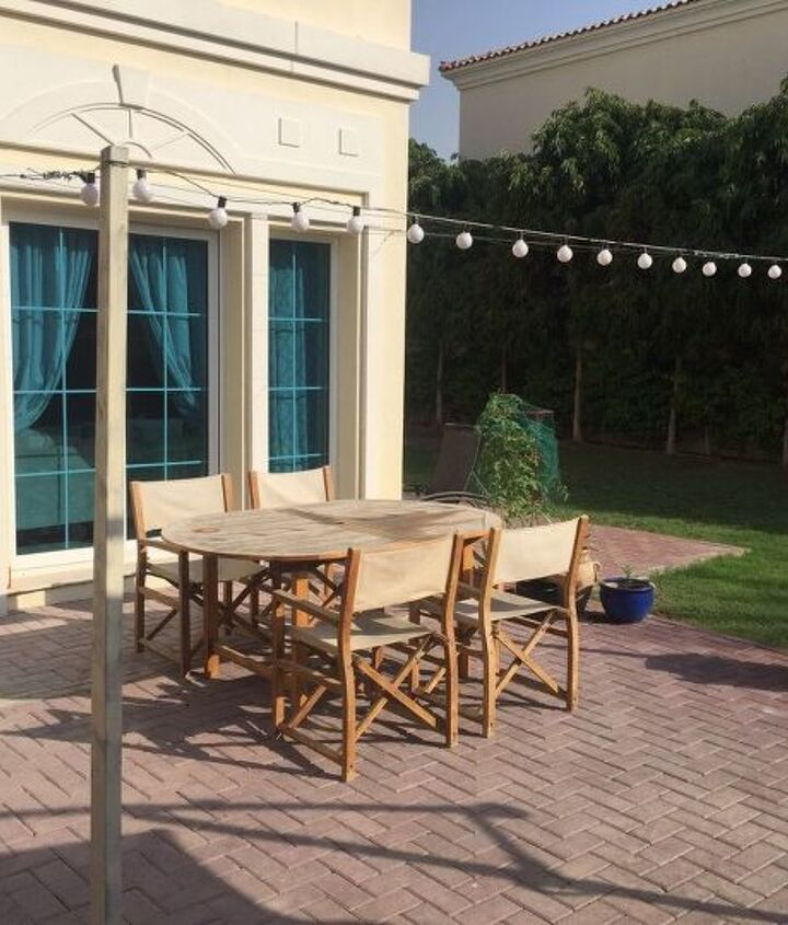 diy steel wire pergola on the cheap, decks, diy, outdoor living