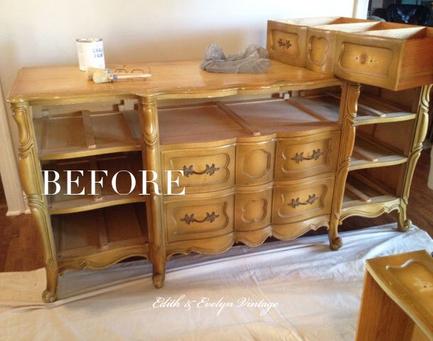 A Blue French Provincial Dresser Chalk Paint Painted Furniture