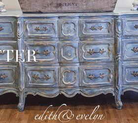 Bon A Blue French Provincial Dresser, Chalk Paint, Painted Furniture
