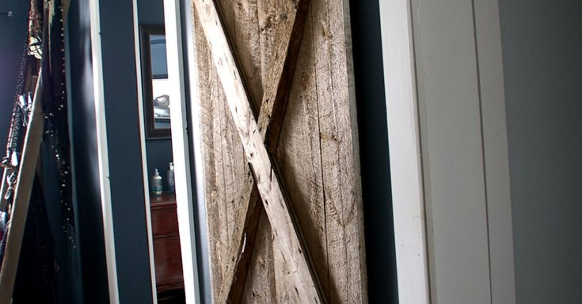 Hanging A Barn Door For Our Master Bathroom Hometalk
