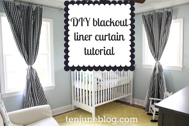 Step By Tutorial Diy Blackout Curtains For Nursery Or Bedroom Ideas How