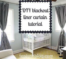 Step By Step Tutorial Diy Blackout Curtains For Nursery Or Bedroom, Bedroom  Ideas, How