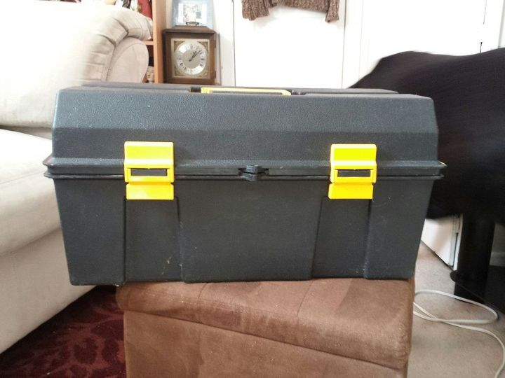 q plastic toolbox makeover, crafts, repurpose household items, repurposing upcycling