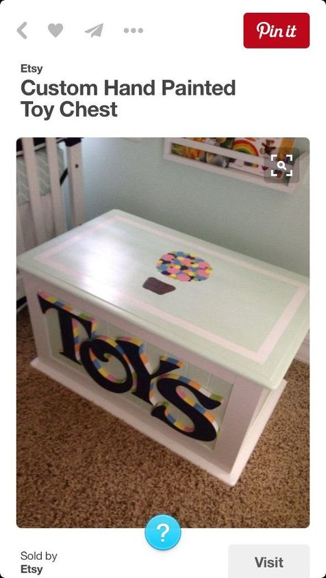 my very first piece, painted furniture
