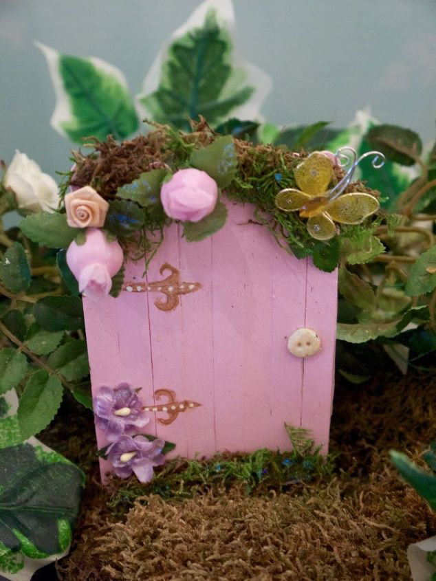 fairy garden doors easy craft stick diy, crafts, gardening