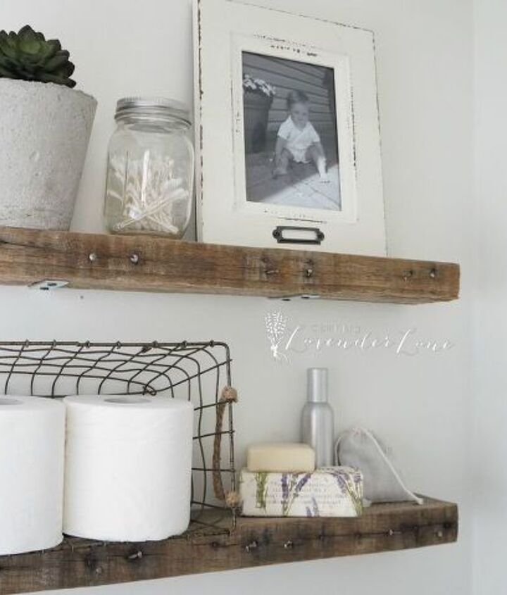 Diy Rustic Bathroom Shelves Hometalk