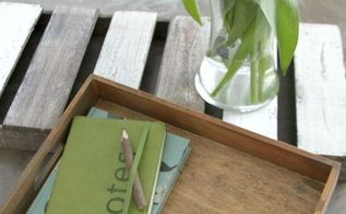 decorative tray from a wooden toy box, chalk paint, crafts, repurposing upcycling