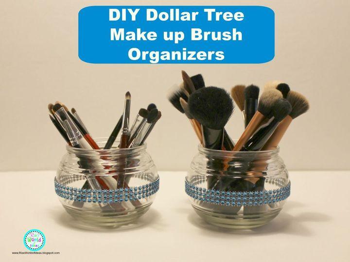 diy dollar tree makeup brush organizers, crafts, organizing