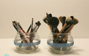 diy dollar tree makeup brush organizers, crafts, organizing