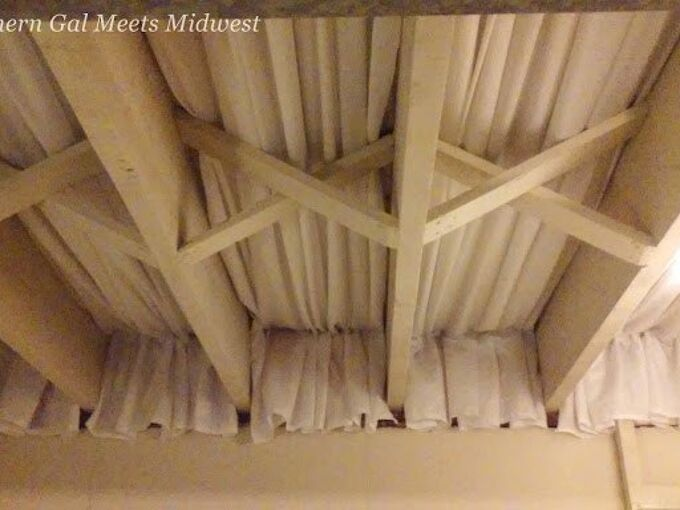 basement craft room ceiling, basement ideas, craft rooms, diy, home improvement, wall decor