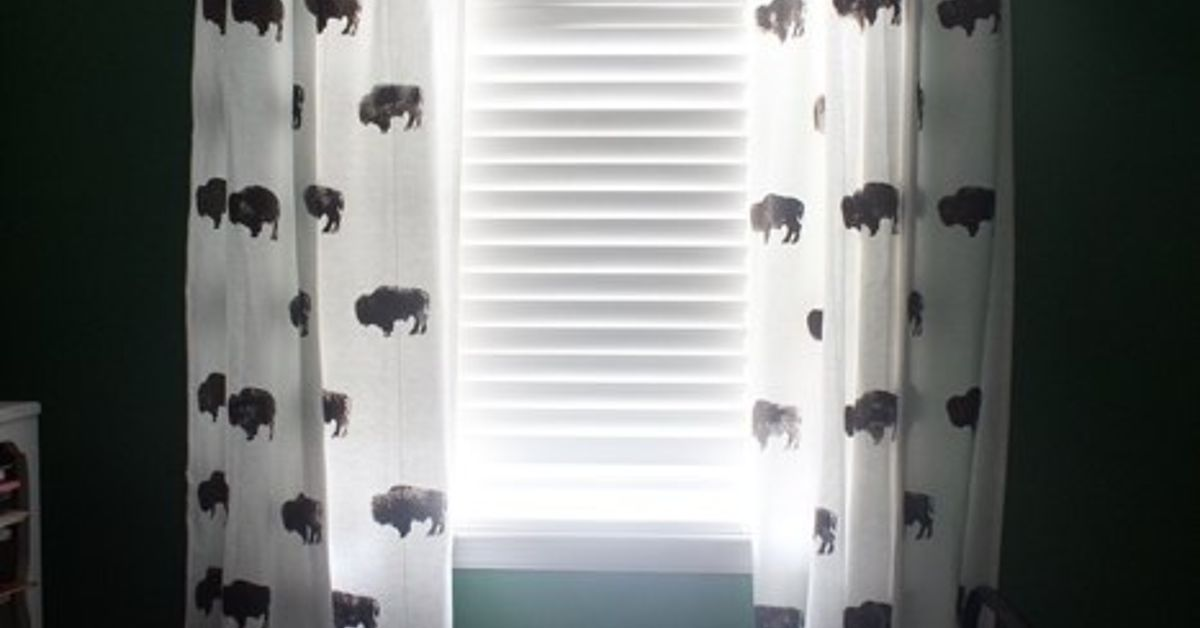 Custom Buffalo Curtains For Kid S Room From Inexpensive Ikea Hometalk