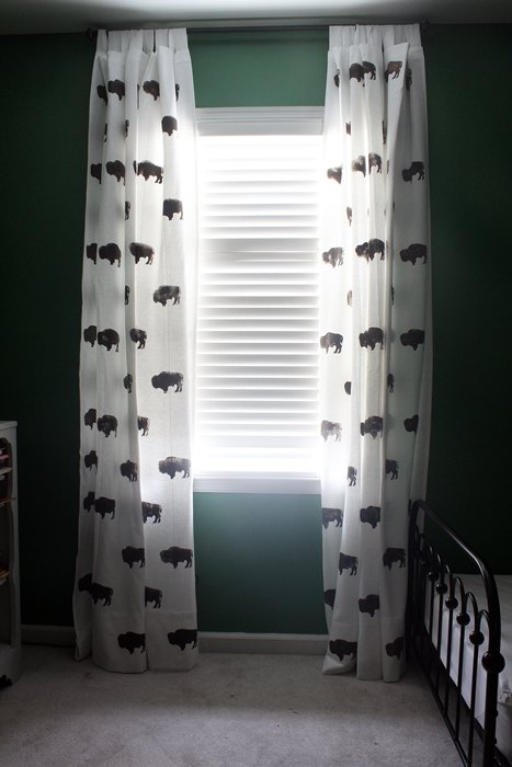 Custom Buffalo Curtains For Kid S Room From Inexpensive Ikea Bedroom Ideas Crafts