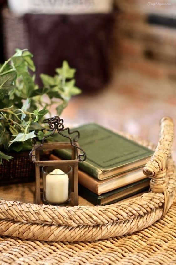 easy home decorating with trays, home decor