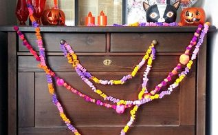 crazy easy diy garlands for halloween, halloween decorations, seasonal holiday decor