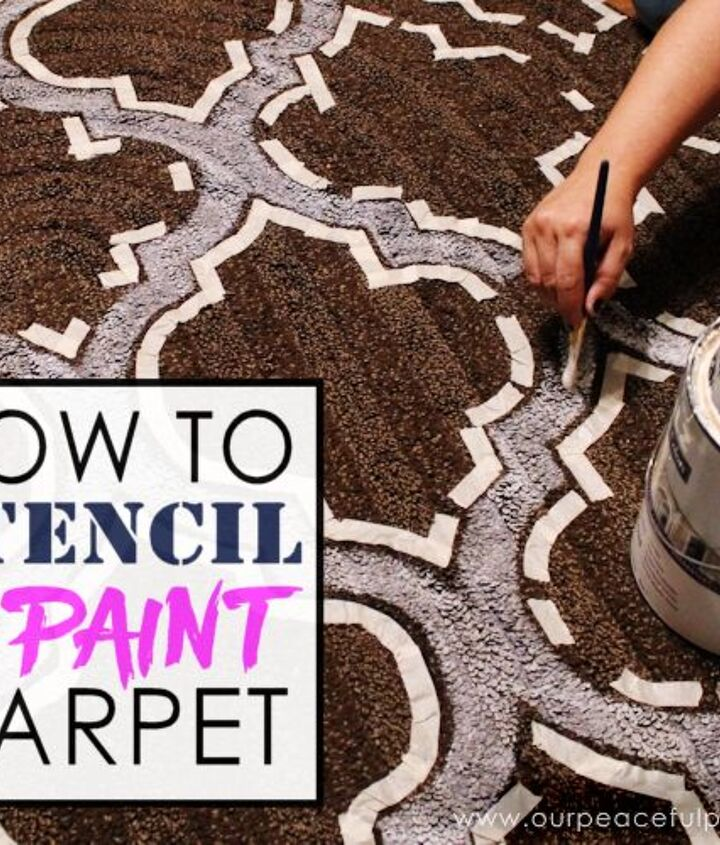 how to stencil paint carpet, crafts, how to, reupholster