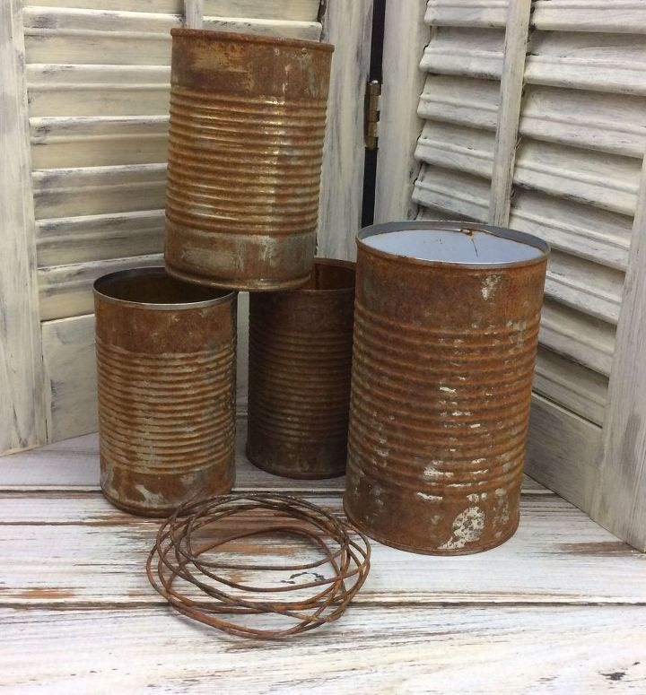 Rusty tin can planters hometalk for Tin cans for crafts