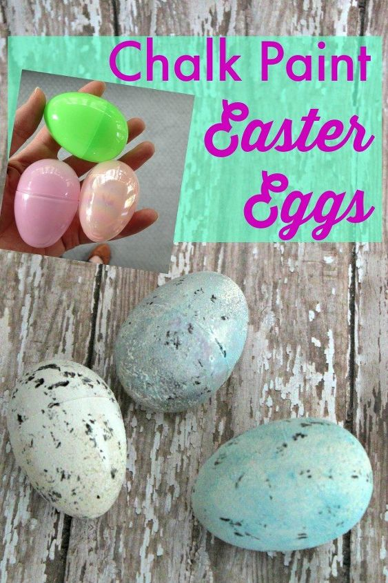 painted plastic easter eggs, chalk paint, crafts, easter decorations, seasonal holiday decor