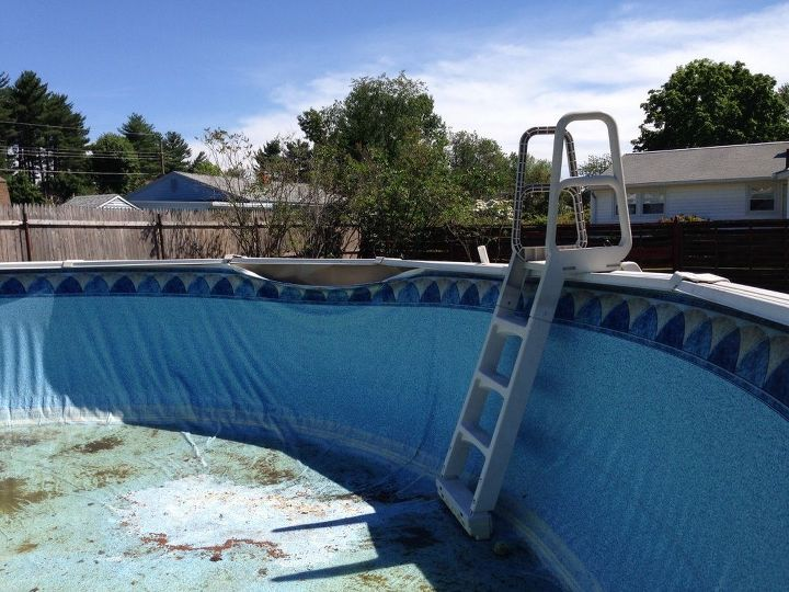 q my 24 foot round above ground pool seats broke in four places, home improvement, outdoor furniture, pool designs, small home improvement projects